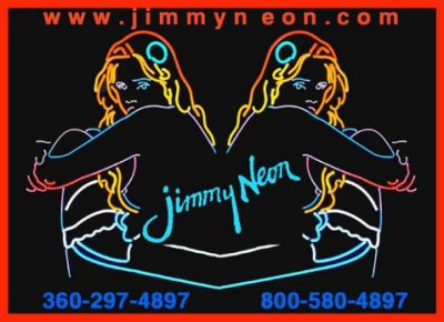 Jimmy Neon's business card